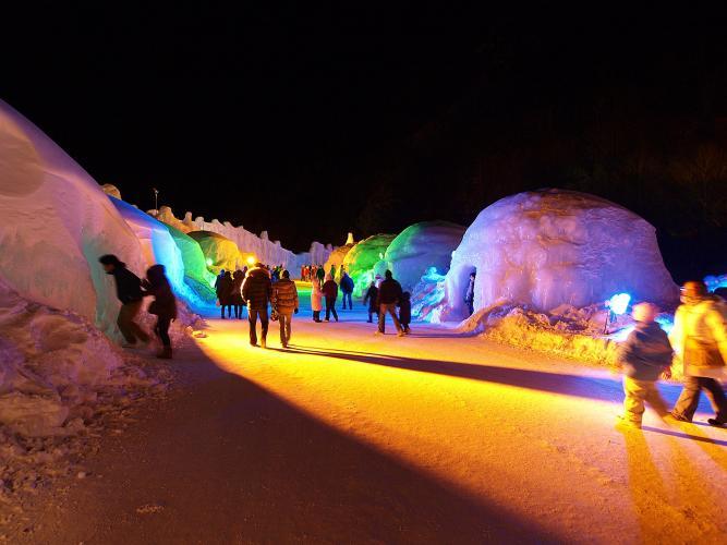 層雲峽溫泉冰瀑祭