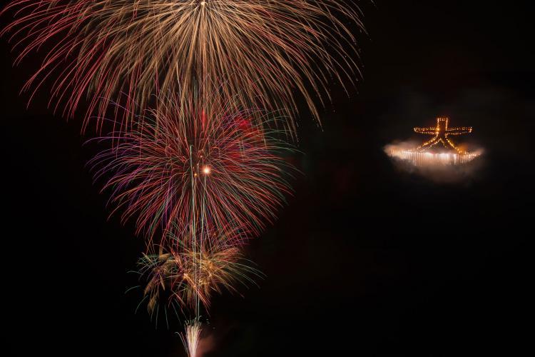 箱根強羅夏祭 大文字燒