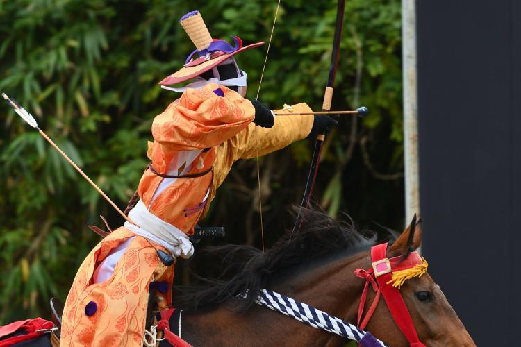 富士御室淺間神社的流鏑馬