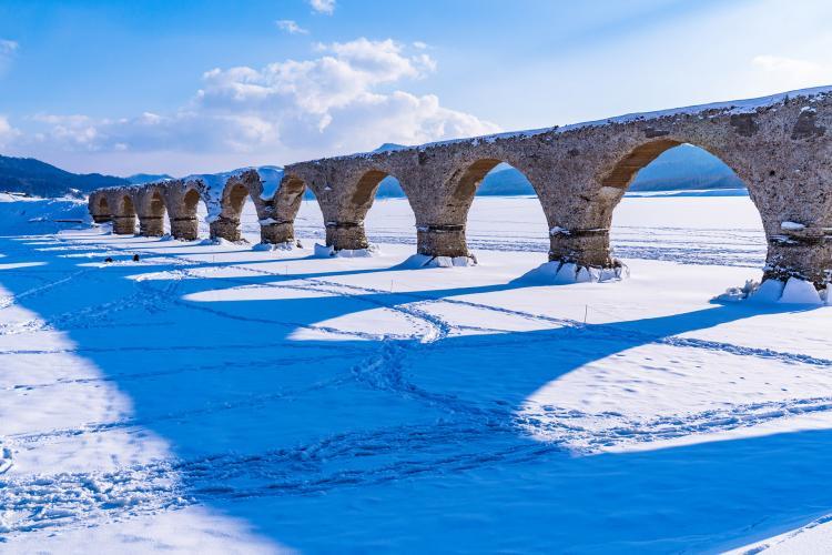 Taushubetsu橋梁(糠平湖)