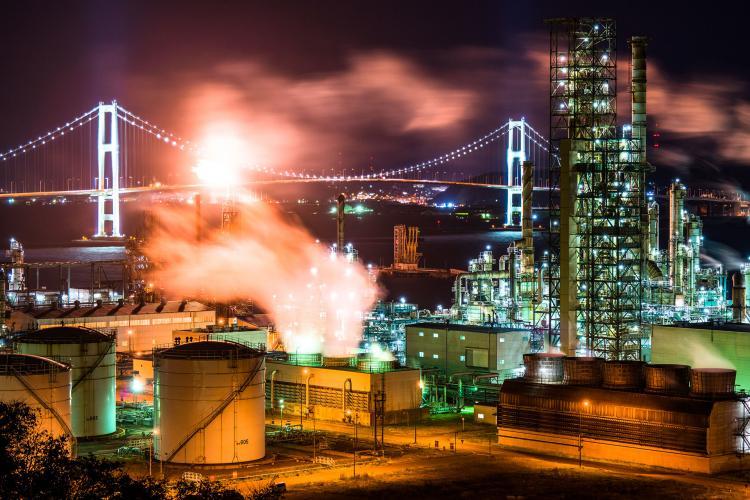 室蘭工廠夜景(白鳥灣展望台)