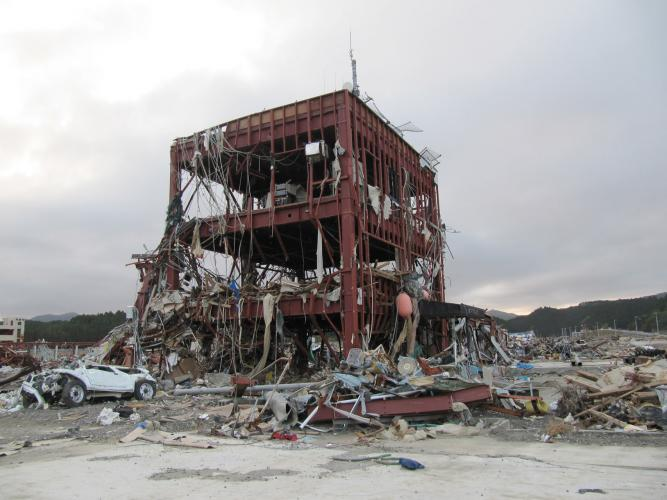 南三陸町防災對策聽舍(震災遺構)