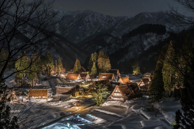 相倉合掌造村落(五個山)