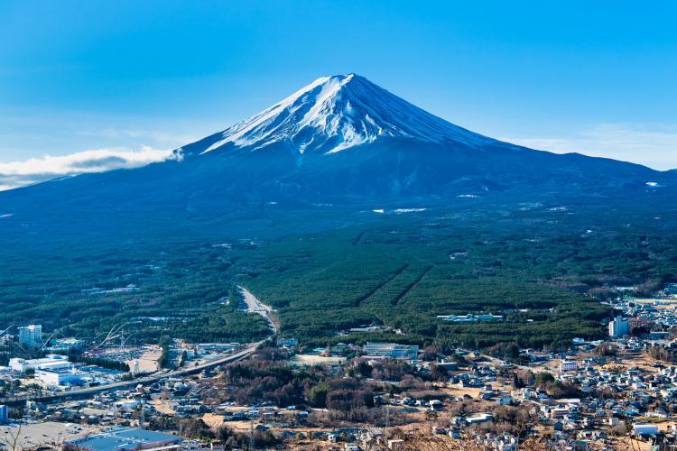河口湖富士山全景纜車
