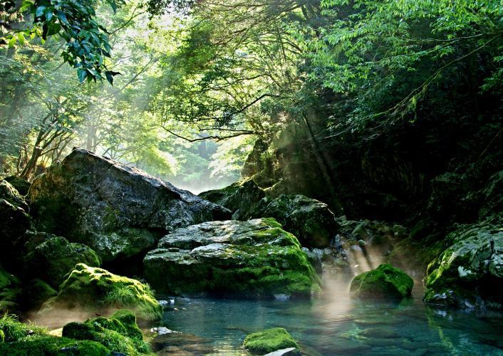 園原的伏流水