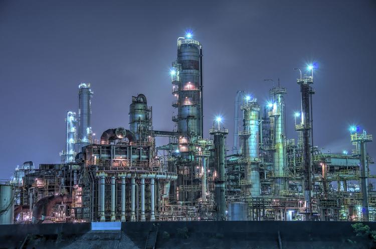 四日市工場群的夜景(大正橋)