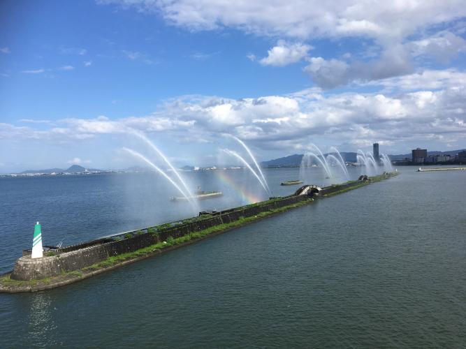 琵琶湖花噴泉