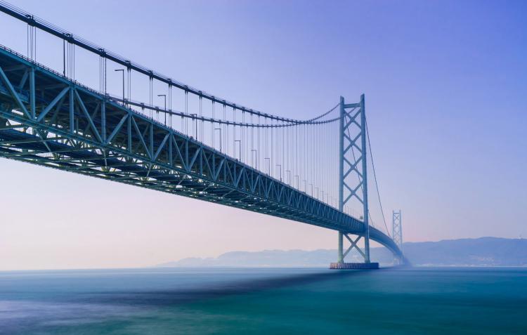 明石海峡大橋 橋頂登頂見學