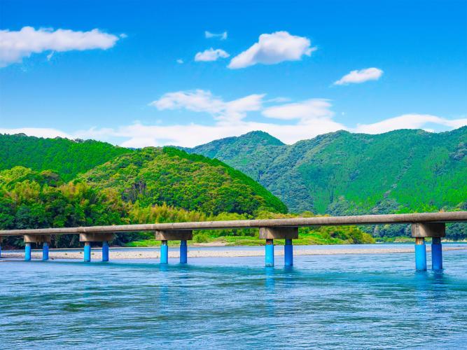 佐田沈下橋(四萬十川)