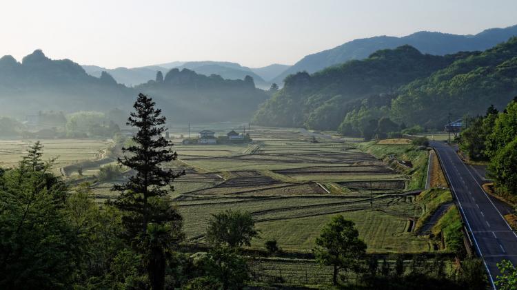 田染莊小崎的農村景觀